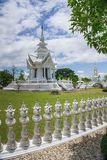 Tempio bianco, Chiang Rai thailand fotografie stock libere da diritti