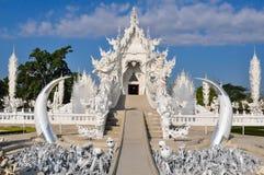 Tempio bianco (Wat Rong Khun) Fotografia Stock