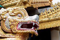 Tempio birmano di Dhamikarama a Penang, Malesia Fotografie Stock