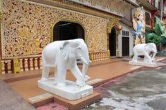 Tempio birmano di Dhamikarama a Penang, Malesia Fotografia Stock