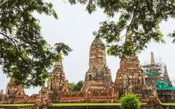 Tempio buddista antico di Wat Chaiwatthanaram nella città di A Fotografia Stock