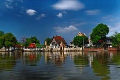 Tempio buddista a Ayutthaya Fotografia Stock Libera da Diritti