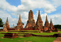 Tempio buddista a Ayutthaya (Tailandia) Fotografie Stock