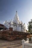Tempio buddista bianco, città di Bagan, Myanmar, Birmania Fotografie Stock