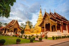 Tempio buddista in Chiang Mai Fotografia Stock