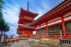 Tempio buddista di Kiyomizu-Dera a Kyoto, Giappone Immagini Stock Libere da Diritti