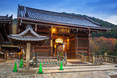 Tempio buddista di Kiyomizu-Dera a Kyoto, Giappone Fotografia Stock