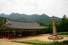 Tempio buddista di Pohyon, Corea del Nord Fotografia Stock