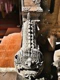 Tempio buddista e statua in Tailandia Fotografia Stock
