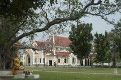 Tempio buddista l'architettura della chiesa (Wat Niwet Thamma Fotografia Stock