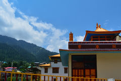 Tempio buddista in manali Fotografia Stock
