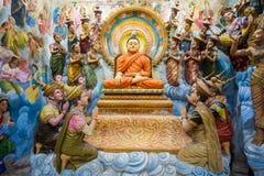 Tempio buddista in Negombo fotografia stock
