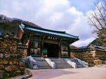 Tempio buddista nel parco nazionale di Seoraksan Fotografia Stock