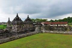 Tempio buddista storico di Candi Plaosan Immagine Stock Libera da Diritti