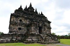 Tempio buddista storico di Candi Plaosan Fotografie Stock Libere da Diritti