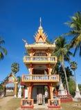 Tempio buddista su Don Khon Immagine Stock