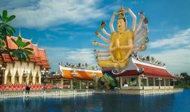 Tempio buddista sul lago Immagine Stock
