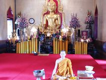 Tempio buddista in Tailandia, Bangkok Immagine Stock Libera da Diritti