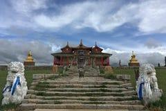 Tempio buddista tibetano in Bayinbuluke Fotografie Stock