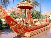 Tempio buddista Wat Preah Prom Rath fotografie stock libere da diritti