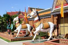 Tempio buddista Wat Preah Prom Rath, Siem Reap fotografie stock