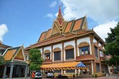 Tempio buddista Wat Preah Prom Rath in Siem Reap, Cambogia immagine stock libera da diritti
