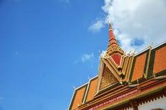 Tempio buddista Wat Preah Prom Rath in Siem Reap, Cambogia fotografie stock