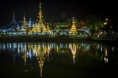 Tempio Chong Klang in Mae Hong Son Fotografie Stock