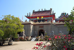 Tempio cinese e Wat Viharnra Sien in Tailandia Immagine Stock Libera da Diritti