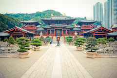 Tempio cinese a Hong Kong Fotografia Stock Libera da Diritti