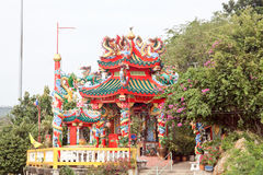 Tempio cinese (Koh Loi, Sri Racha, Tailandia) Fotografia Stock
