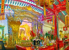Tempio cinese in Rangoon, Myanmar Fotografia Stock Libera da Diritti