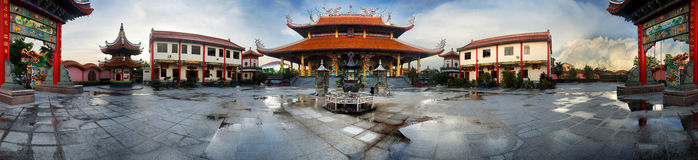 Tempio cinese, Sarawak Borneo Fotografia Stock