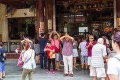 Tempio cinese storico a Singapore Fotografie Stock