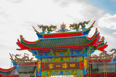 Tempio cinese Tua Pek Kong Città di Miri, Borneo, Sarawak, Malesia fotografie stock