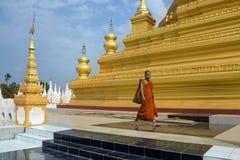 Tempio comunale di Sanda - Mandalay - Myanmar immagine stock libera da diritti