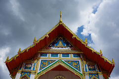 Tempio con il cielo Immagini Stock Libere da Diritti