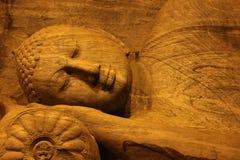 Tempio con la scultura Fotografia Stock