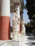 Tempio Corfù di Achille Immagine Stock