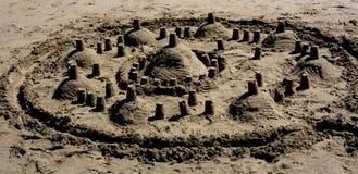 Tempio costruito della sabbia Fotografie Stock Libere da Diritti