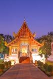 Tempio crepuscolare di singh di phra del wat Fotografia Stock
