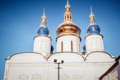 Tempio cristiano nell'inverno fotografia stock libera da diritti