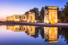Tempio Debod di Madrid Immagine Stock Libera da Diritti