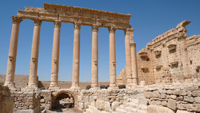 Tempio del bel in Palmira. La Siria fotografia stock