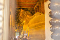 Tempio del Buddha adagiantesi Fotografie Stock