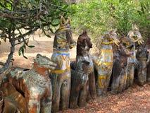 Tempio del cavallo, Chettinadu, India Fotografie Stock Libere da Diritti