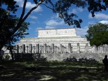 Tempio del ` dei guerrieri a Chichen Itza Fotografia Stock Libera da Diritti