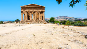 Tempio del della Concordia di Tempio di pace in Sicilia Fotografia Stock Libera da Diritti