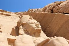 Tempio del dettaglio di Rameses II Abu Simbel, Egitto Immagine Stock