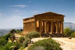 Tempio del greco antico di Concordia Fotografie Stock Libere da Diritti